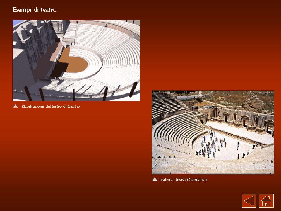 Esempi di teatro Ricostruzione del teatro di Cassino