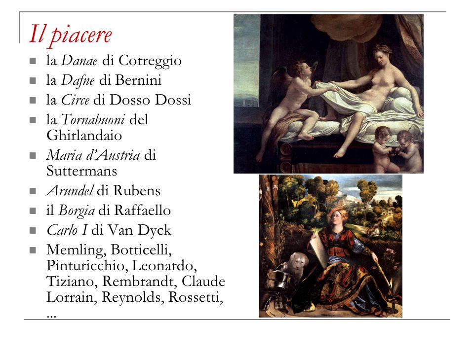 Il piacere la Danae di Correggio la Dafne di Bernini