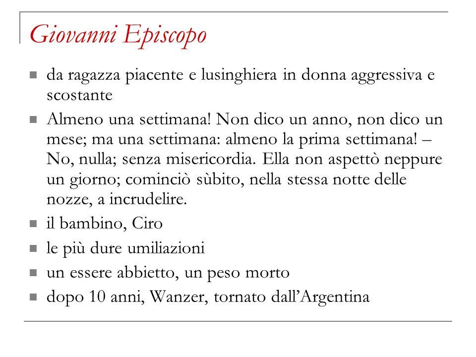 Giovanni Episcopo da ragazza piacente e lusinghiera in donna aggressiva e scostante.