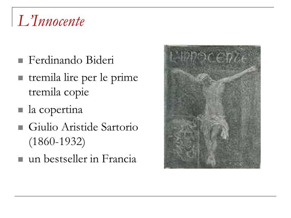 L'Innocente Ferdinando Bideri tremila lire per le prime tremila copie