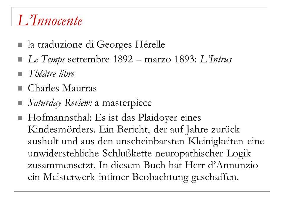 L'Innocente la traduzione di Georges Hérelle