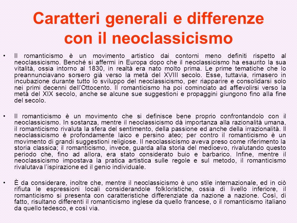 Caratteri generali e differenze con il neoclassicismo