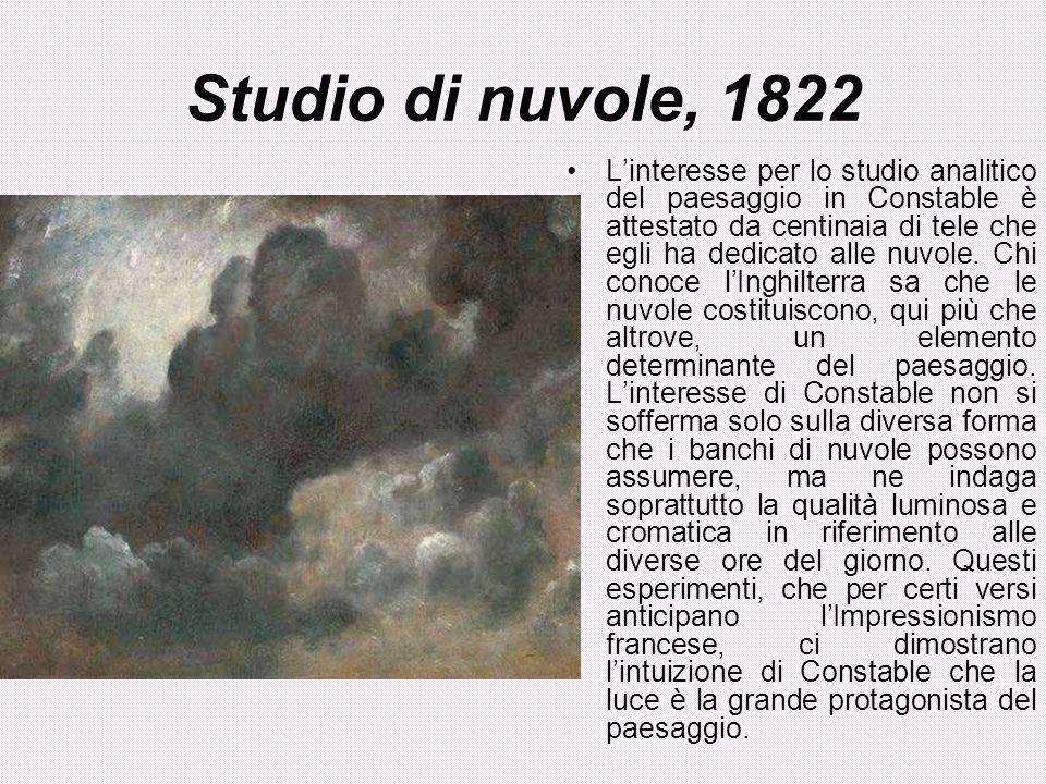 Studio di nuvole, 1822