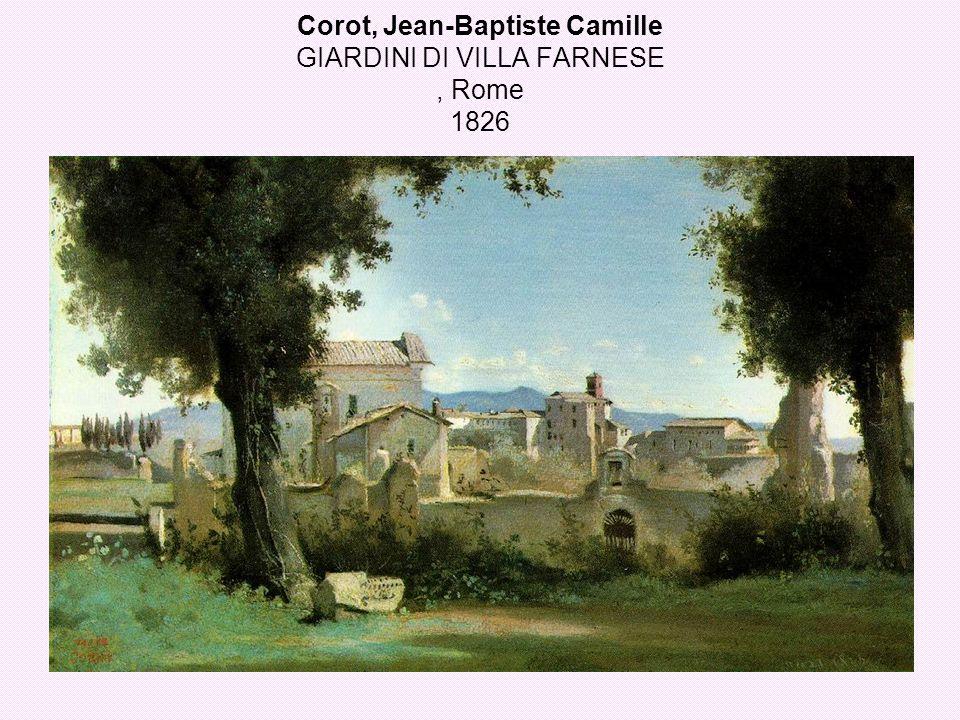 Corot, Jean-Baptiste Camille GIARDINI DI VILLA FARNESE , Rome 1826