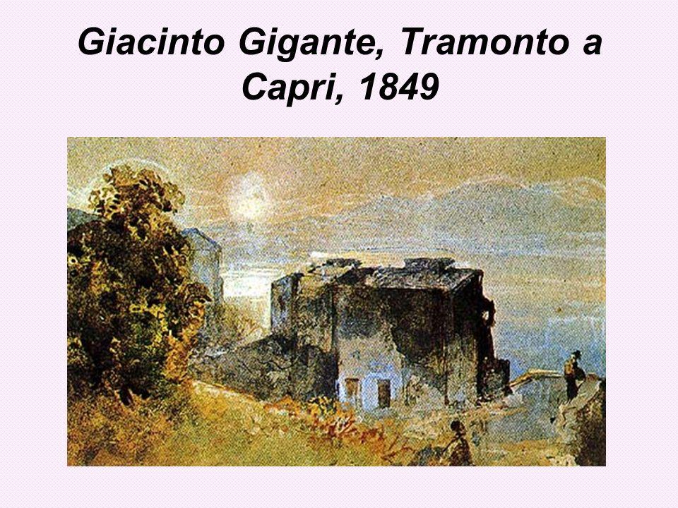 Giacinto Gigante, Tramonto a Capri, 1849