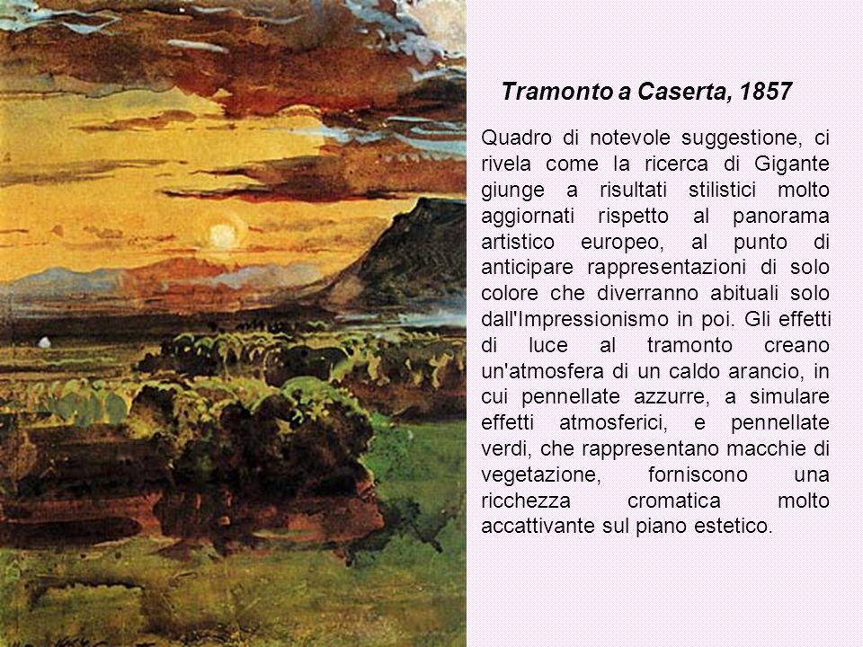 Tramonto a Caserta, 1857