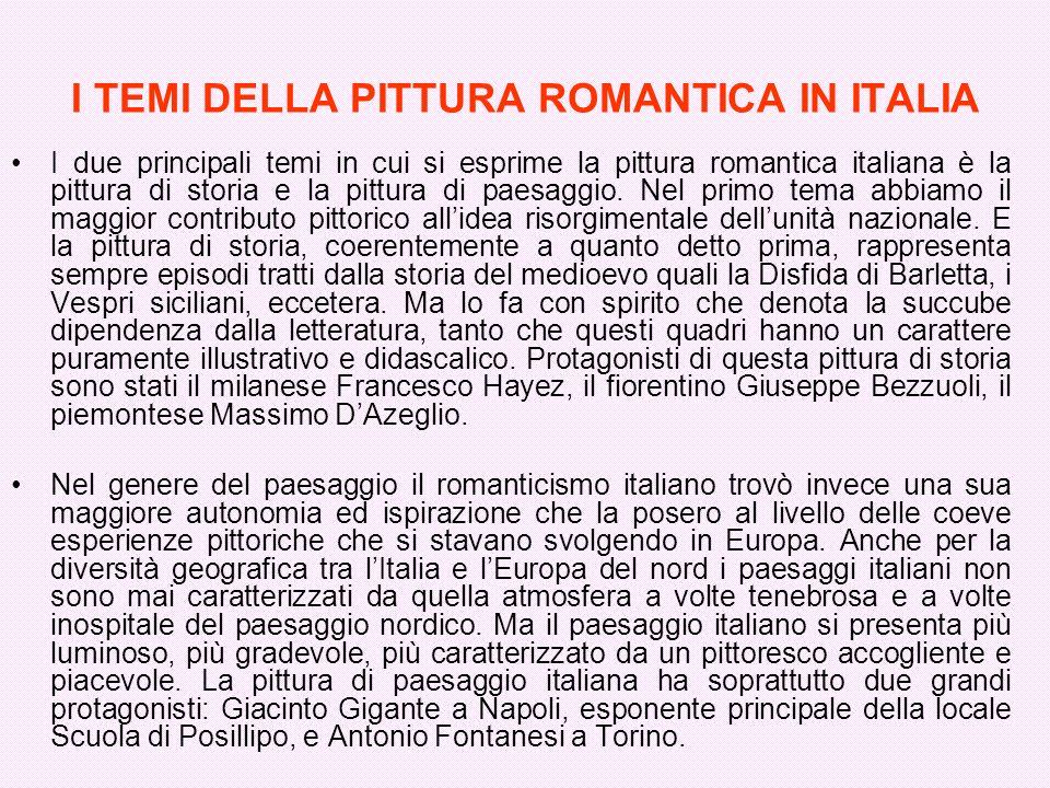 I TEMI DELLA PITTURA ROMANTICA IN ITALIA