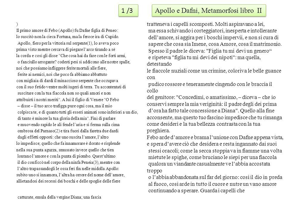 Apollo e Dafni, Metamorfosi libro II
