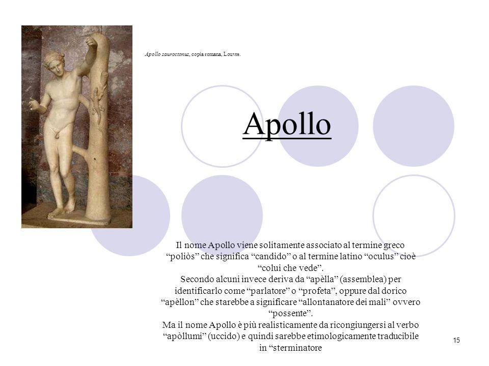 Apollo Apollo sauroctonus, copia romana, Louvre.