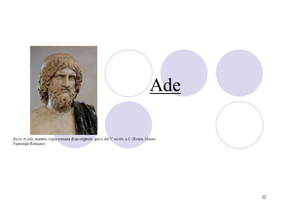 Ade Busto di Ade, marmo, copia romana di un originale greco del V secolo a.C.