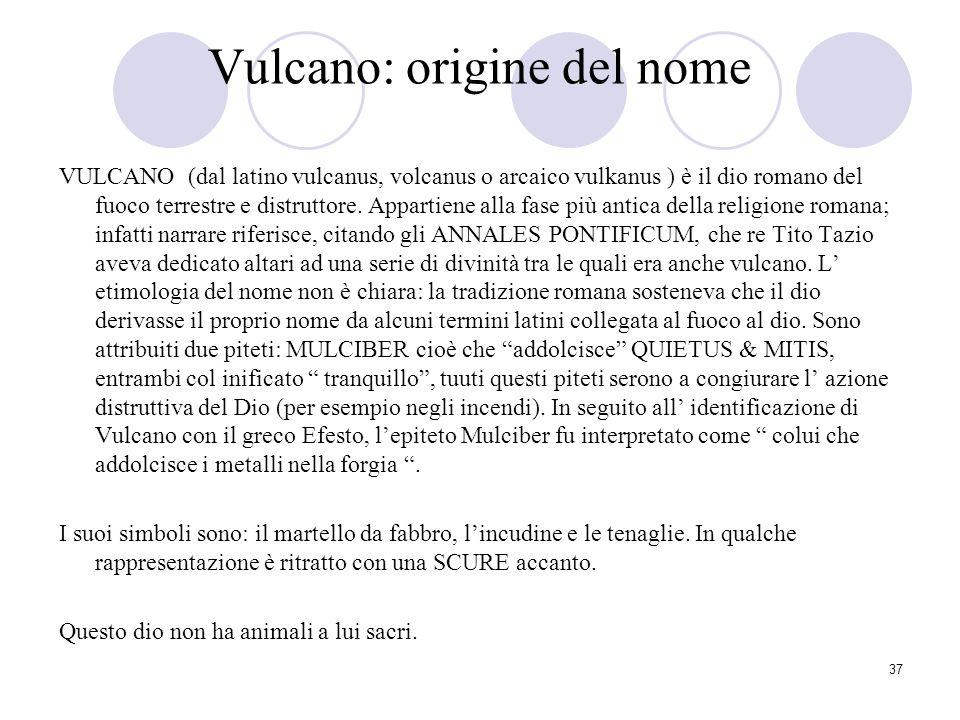 Vulcano: origine del nome