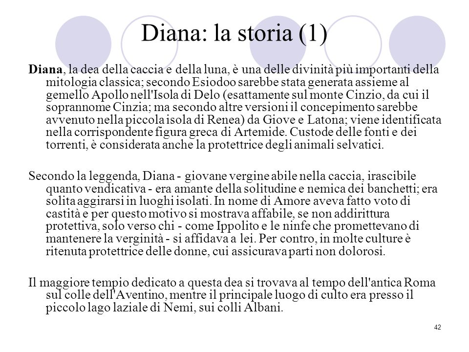 Diana: la storia (1)