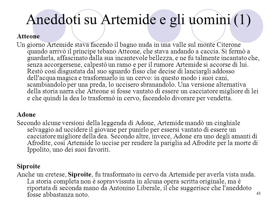 Aneddoti su Artemide e gli uomini (1)