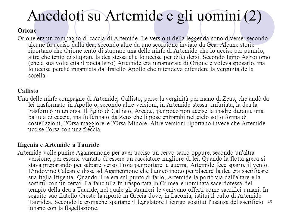 Aneddoti su Artemide e gli uomini (2)
