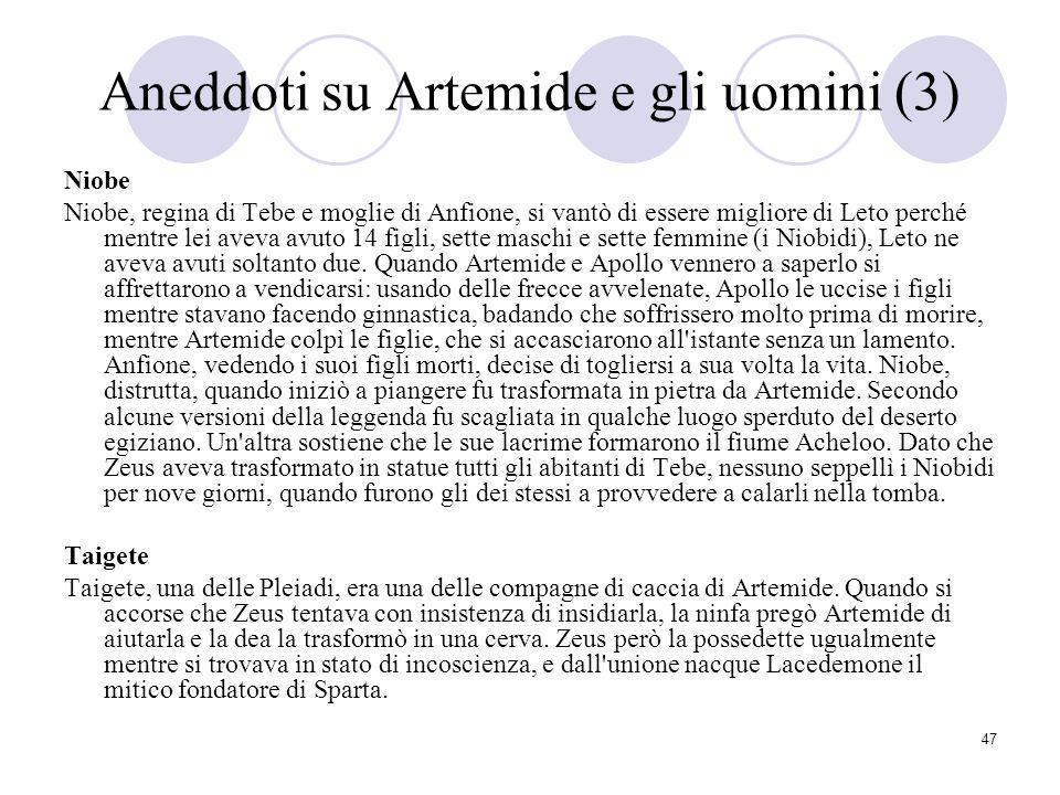 Aneddoti su Artemide e gli uomini (3)