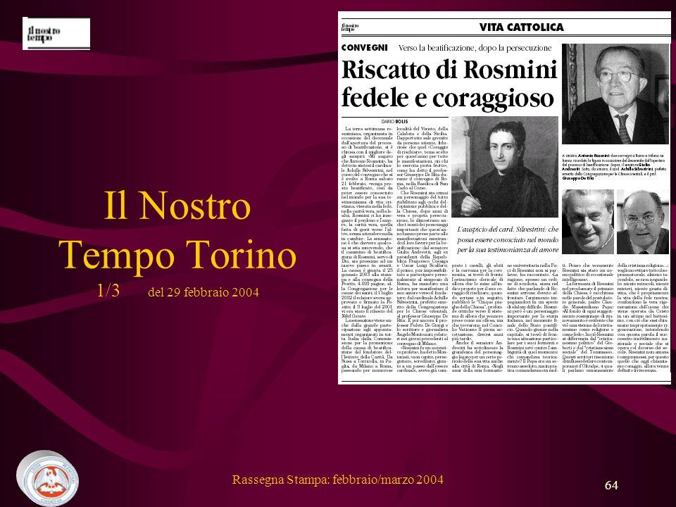 Il Nostro Tempo Torino 1/3 del 29 febbraio 2004