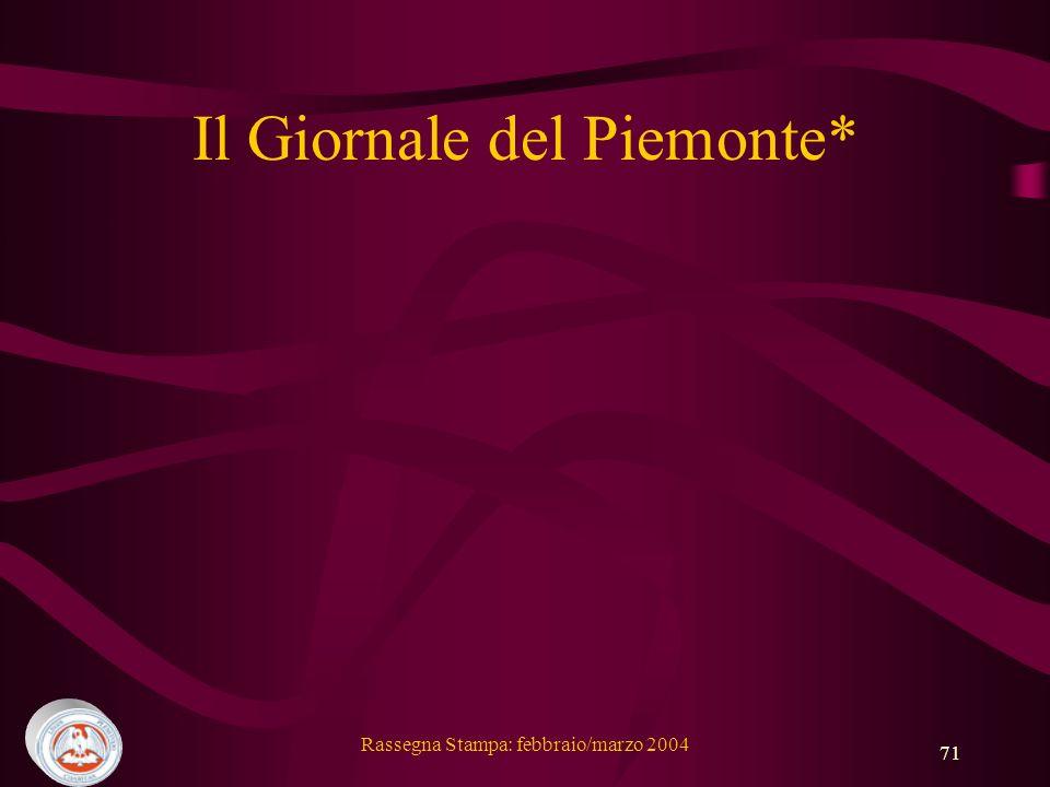 Il Giornale del Piemonte*