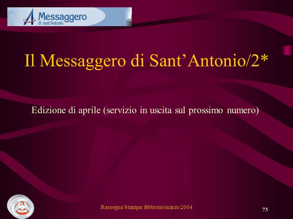 Il Messaggero di Sant'Antonio/2*