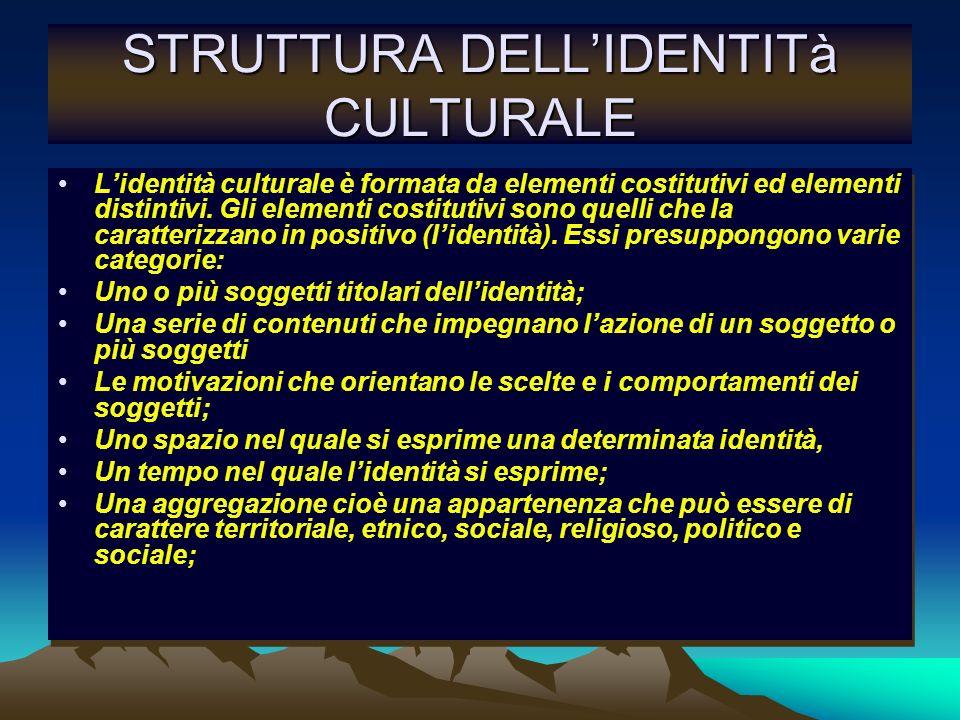 STRUTTURA DELL'IDENTITà CULTURALE