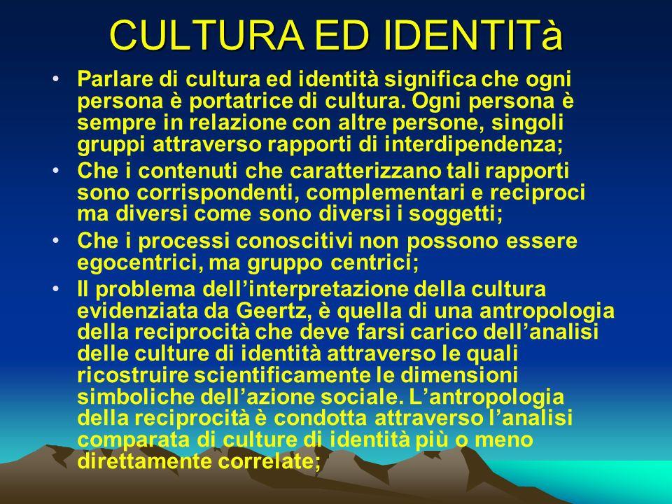 CULTURA ED IDENTITà