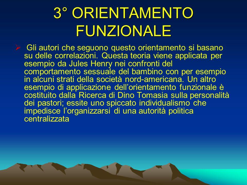 3° ORIENTAMENTO FUNZIONALE
