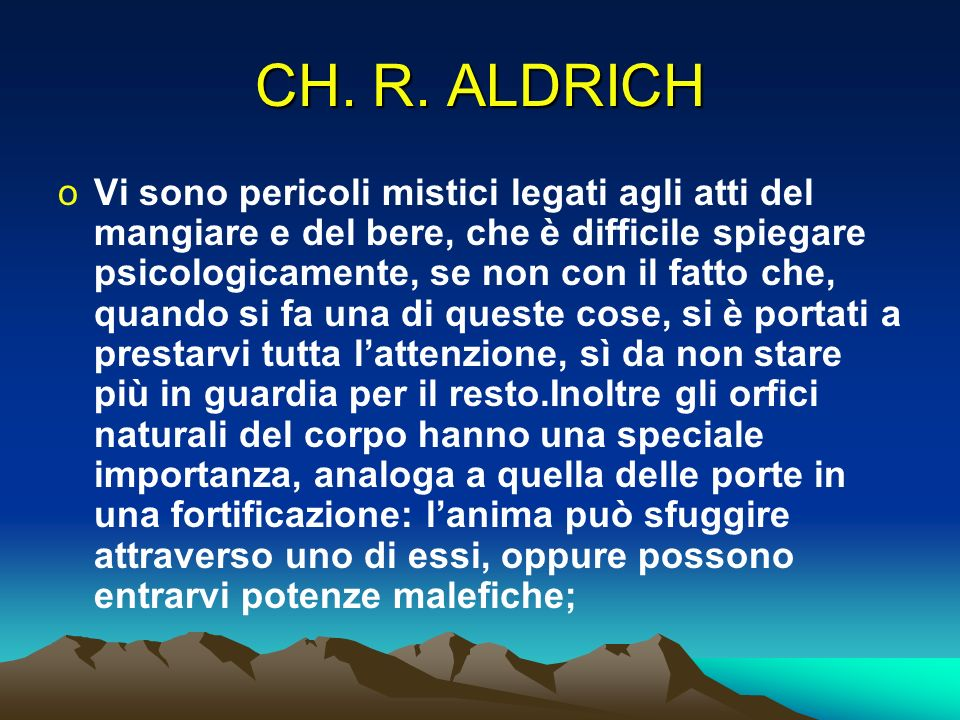 CH. R. ALDRICH