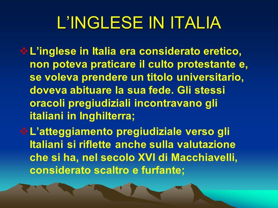L'INGLESE IN ITALIA