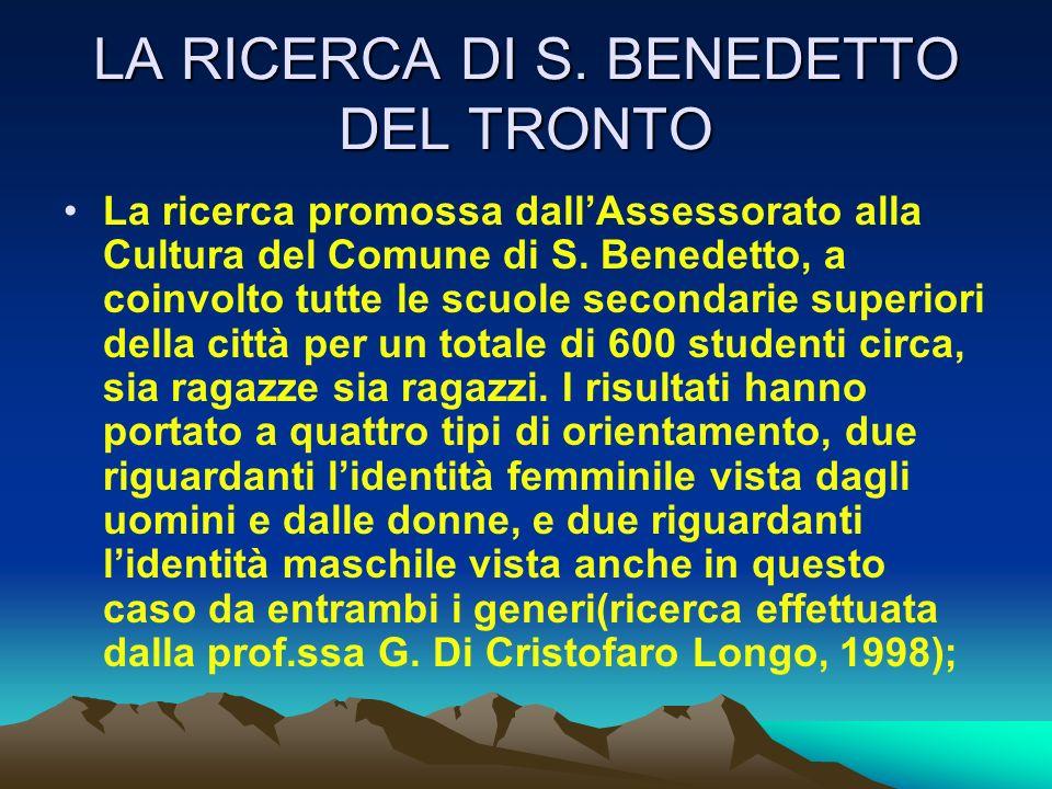 LA RICERCA DI S. BENEDETTO DEL TRONTO