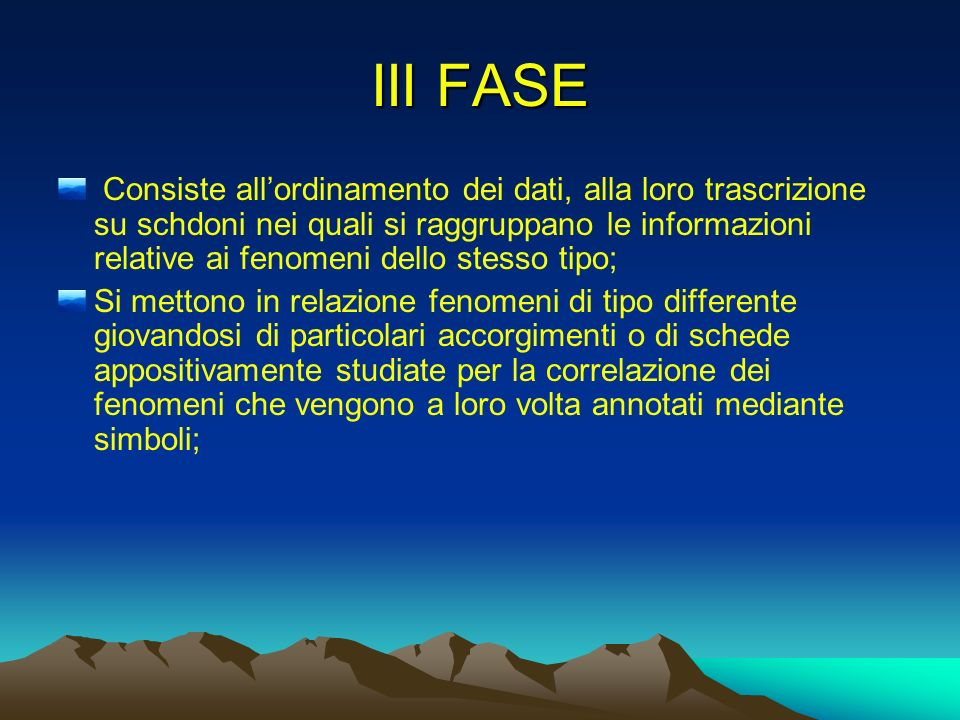 III FASE
