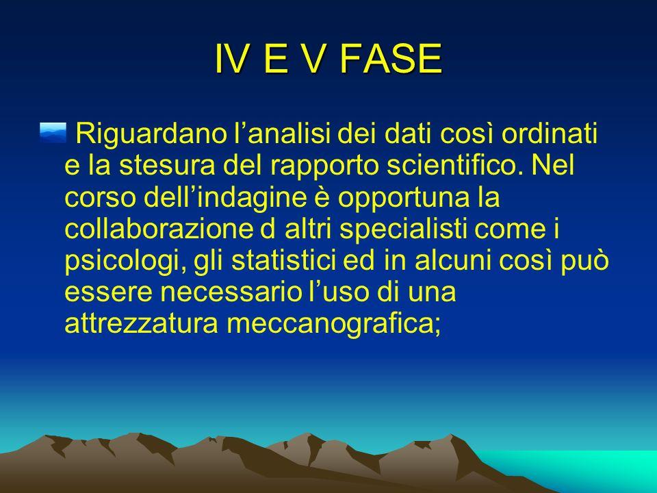 IV E V FASE