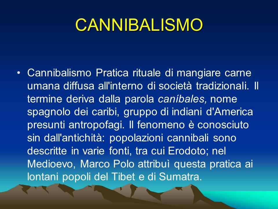 CANNIBALISMO