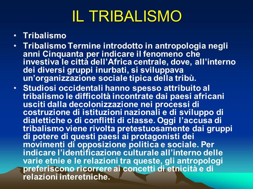 IL TRIBALISMO Tribalismo