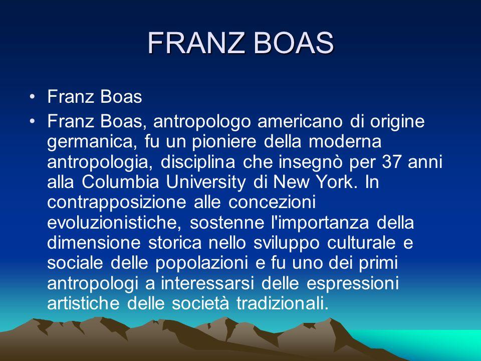 FRANZ BOAS Franz Boas.