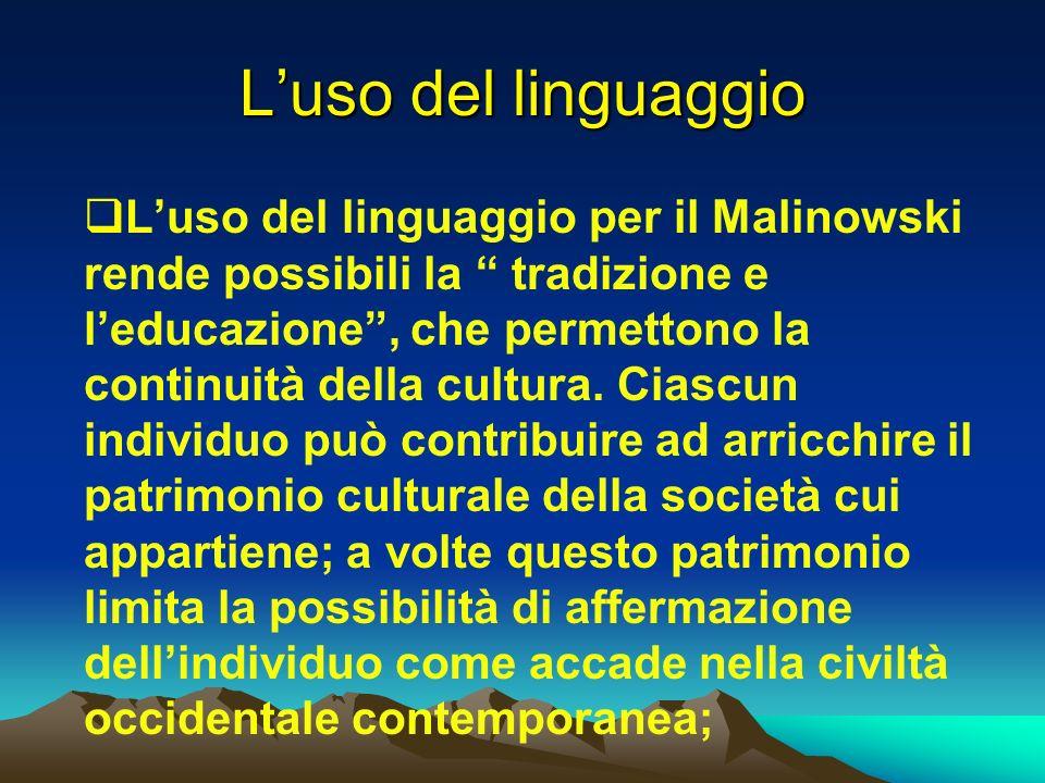L'uso del linguaggio