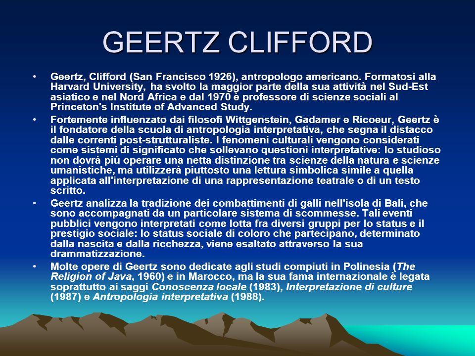 GEERTZ CLIFFORD