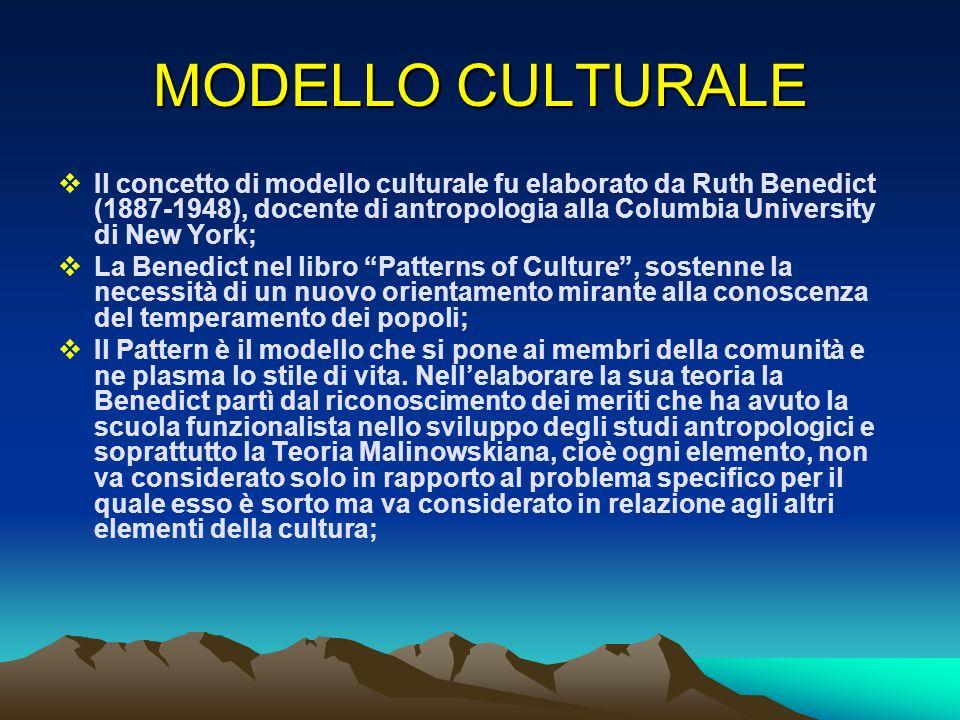 MODELLO CULTURALE
