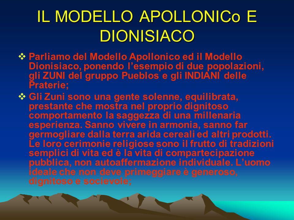 IL MODELLO APOLLONICo E DIONISIACO