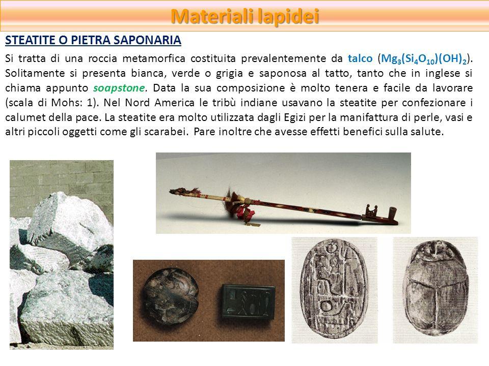 Materiali lapidei STEATITE O PIETRA SAPONARIA