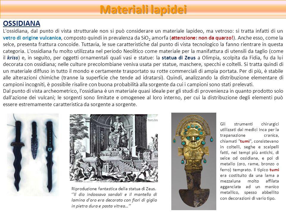 Materiali lapidei OSSIDIANA