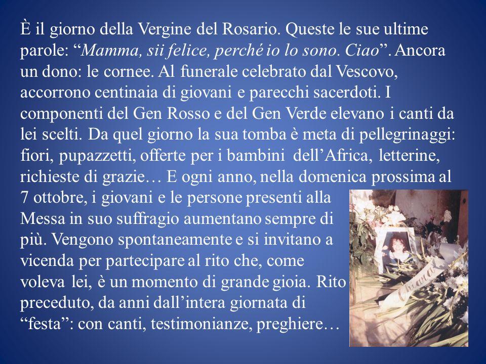 È il giorno della Vergine del Rosario