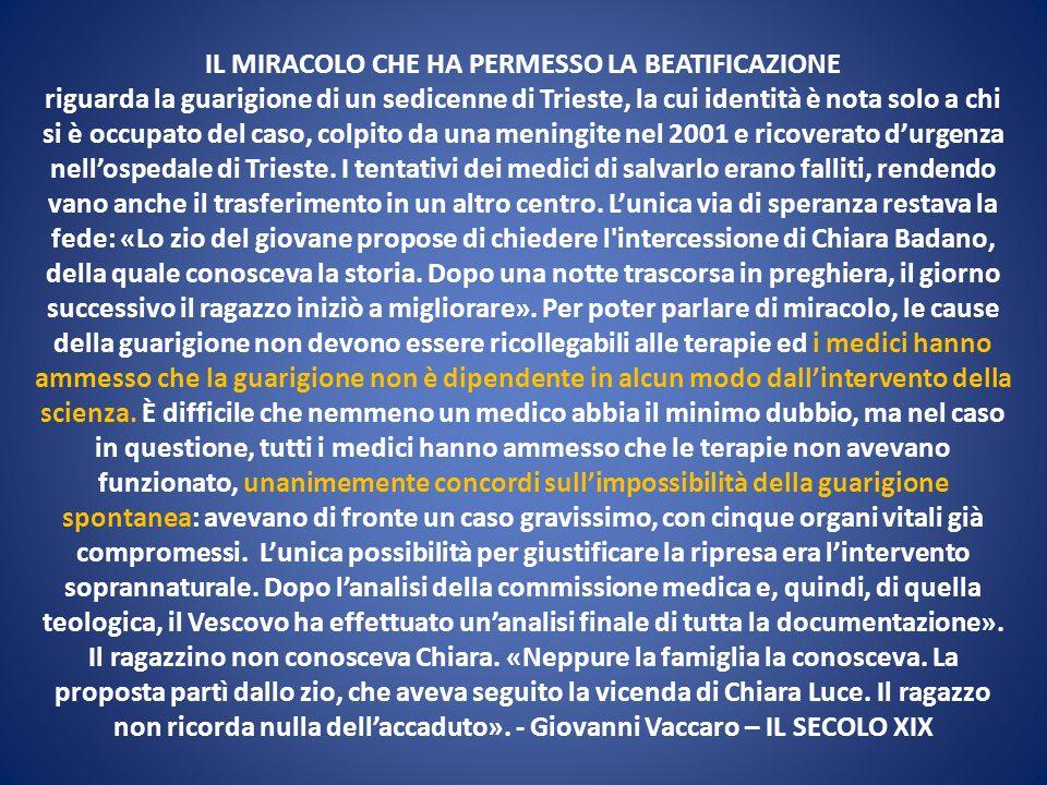 IL MIRACOLO CHE HA PERMESSO LA BEATIFICAZIONE