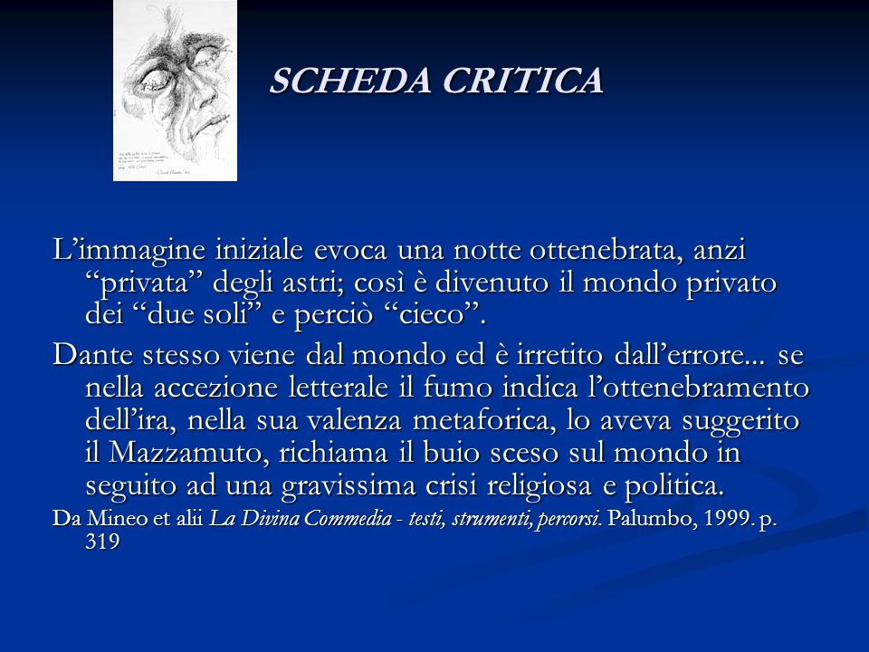 SCHEDA CRITICA