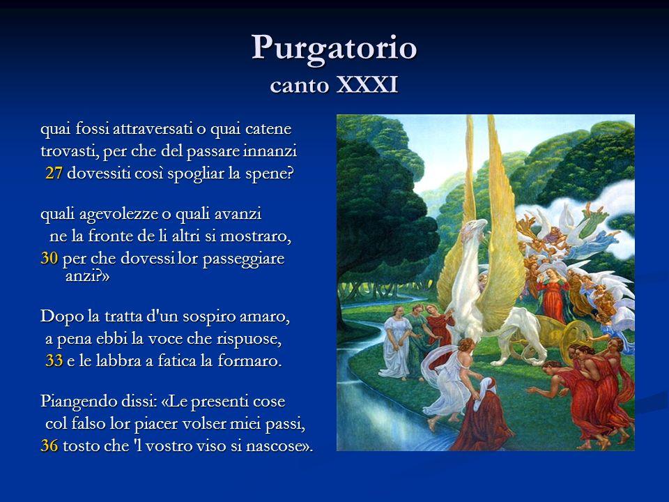 Purgatorio canto XXXI quai fossi attraversati o quai catene