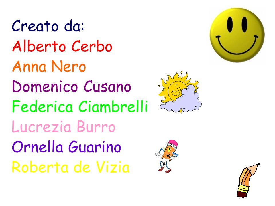 Creato da: Alberto Cerbo. Anna Nero. Domenico Cusano. Federica Ciambrelli. Lucrezia Burro. Ornella Guarino.