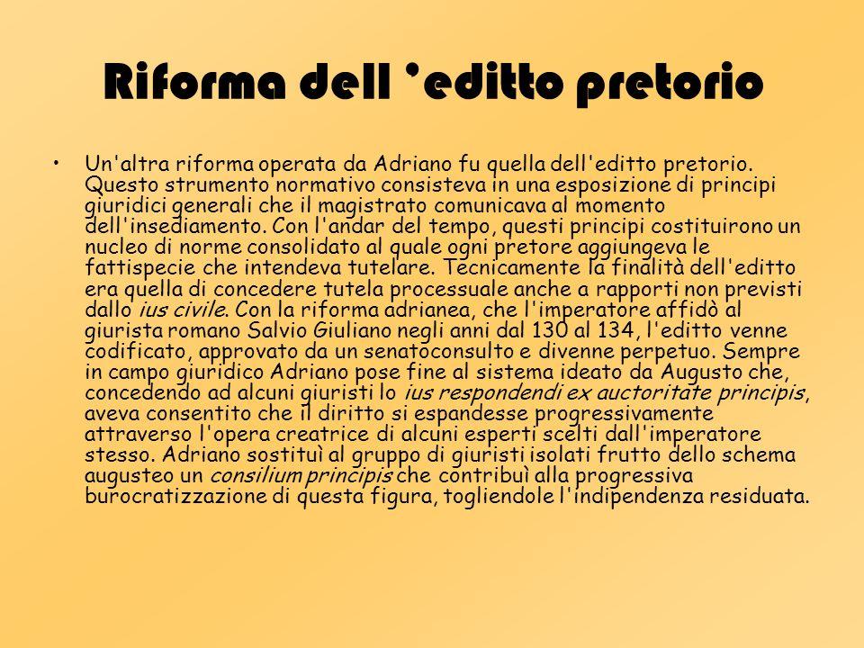 Riforma dell 'editto pretorio