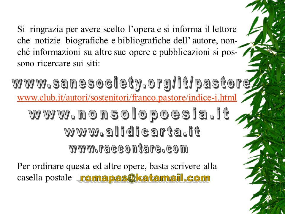 www.nonsolopoesia.it www.alidicarta.it www.raccontare.com