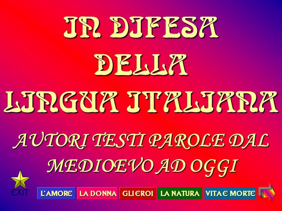 IN DIFESA DELLA LINGUA ITALIANA