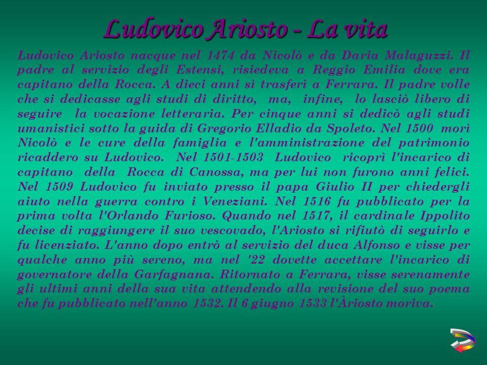 Ludovico Ariosto - La vita