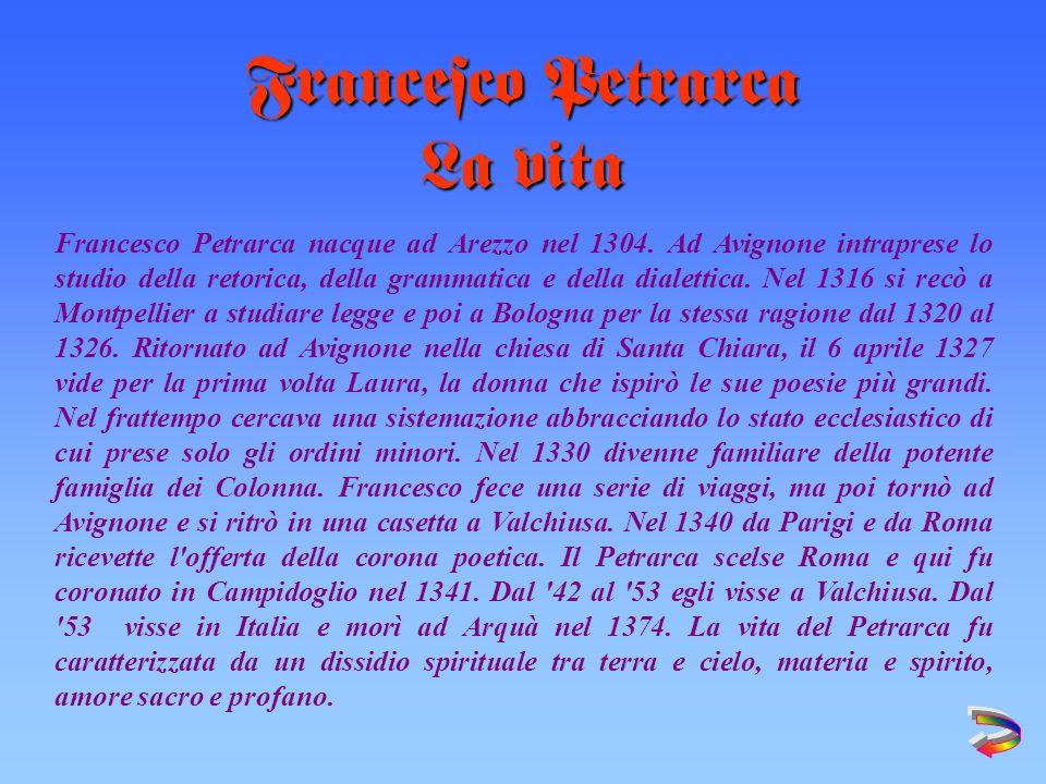 Francesco Petrarca La vita