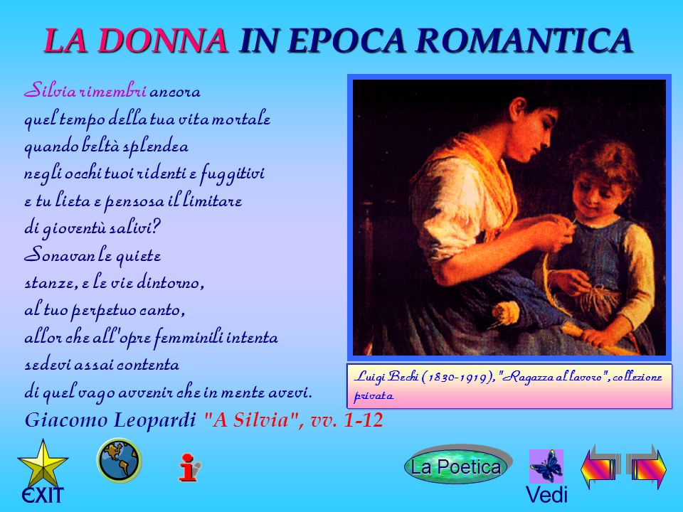 LA DONNA IN EPOCA ROMANTICA